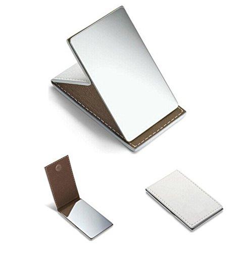 yueton irrompible ultrafino de acero inoxidable plegable Viajes Espejo Espejo de maquillaje...