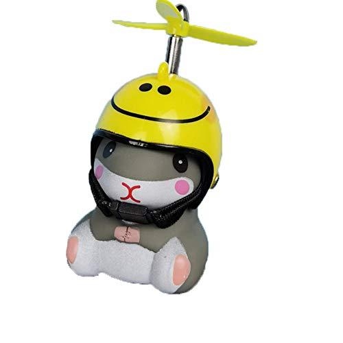 Odoukey Fahrradklingel, Air-Fahrrad-Horn mit LED-Leuchten Propeller Lenker Bike Squeeze Hörner für Kleinkind Kinder Erwachsene (Smiley Helm)