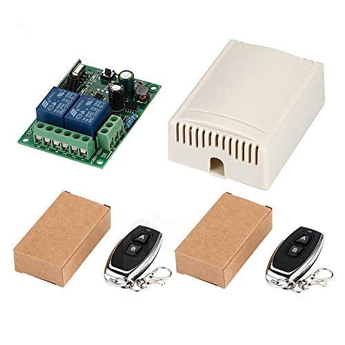 Xzante 433 Mhz Interruptor De Control Remoto Inalambrico Universal Ac 85v 110v 220v 2ch Modulo Receptor De Rele Y Rf 433 Mhz Para Interruptor De Luz