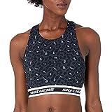 Skechers Midnight Leopard Crop Bra Sujetador Deportivo, M para Mujer
