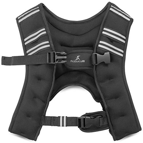 ProsourceFit Exercise Weighted Training Vest for Weight Lifting, Running, and Fitness Body Weight Workouts; Men & Women- 10 lb