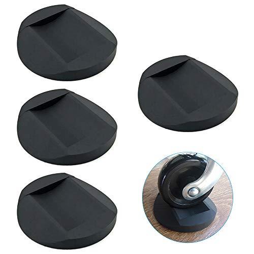 4 Stück Gummi Möbeluntersetzer, Bodenschutz Möbel Rutschfeste Möbel Tassen, Ideale Anti-Rutsch-Matte Eignet Sich für Alle Arten von Möbeln mit Rädern und Sofas(schwarz)