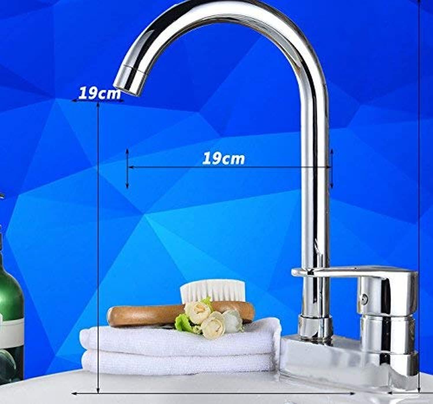 Oudan Mixer Water Tap Wash your face copper bathroom redating Hot and cold