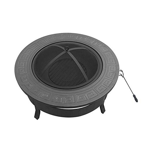 MISS&YG Feuerstelle Tische Für Außenterrasse, Hölzerne Brennender Feuerstelle Mit Hitzebeständiger Beschichtung, BBQ Grill Regal Für Hinterhof Camping Picknick Bonfire 81X45 (cm)