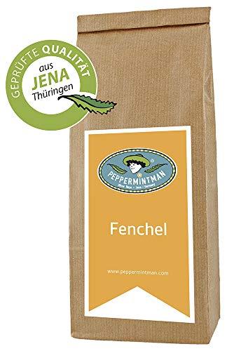 PEPPERMINTMAN Fenchel Samen getrocknet – Aromastarker Fencheltee mit hohem ätherischen Ölgehalt – Der Tee nimmt eine hellgrüne Farbe an und hat ein anisartiges Aroma – 60g...