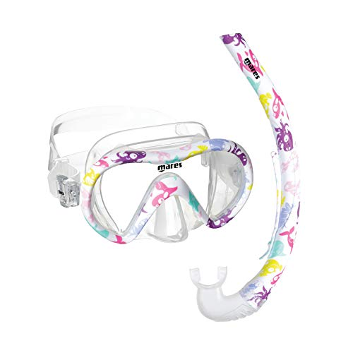 Mares 411774 411774Sffupkcl-Kit Mascara y Tubo Snorkel Buceo Vento Energy, Adultos Unisex, Multicolor, S-M 8-14J