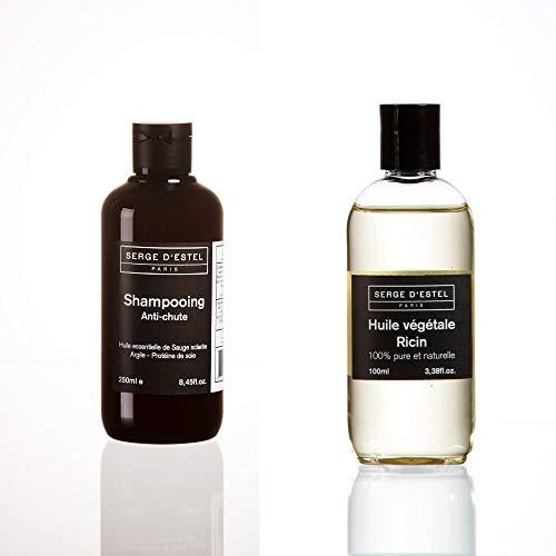 Anti Haarausfall Shampoo 250ml Rizinusöl 100ml Pflege zur Förderung des Haarwachstums.