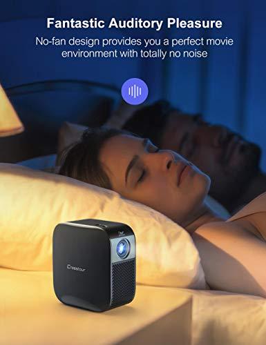 Crosstour S100 Mini Proiettore Portatile DLP con Batteria, LED, Full HD