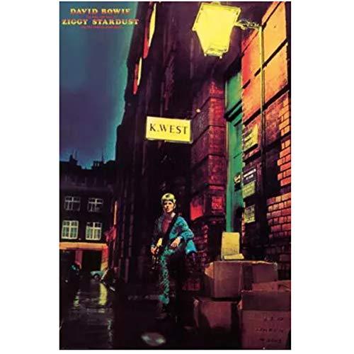 chtshjdtb David Bowie - Ziggy Stardust Canvas Painting Poster Stampe su Tela Immagine della Parete per la Decorazione Domestica della Stanza -20X28 Pollici Senza Cornice 1 Pz