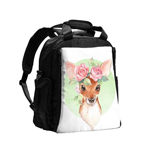 Ausgefallene Wickeltasche Rucksack Tier Niedliches Baby Little Brown Child Deer Wickeltasche Windel Rucksack Multifunktionsreiserucksack Mit Windel Wickelunterlage Für Babypflege