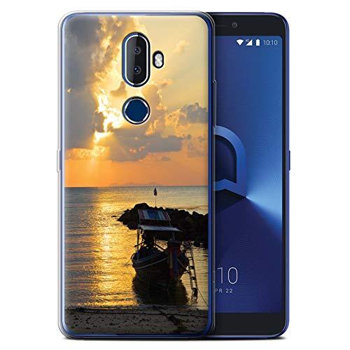 eSwish Gel TPU Phone Case / Cover for Alcatel 3V 2018 / Boat/Sunrays Design / Thailand Scenery Collection -  MR-ALC3V-GC-MP-THAI-BOATRAYS