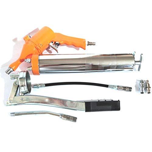 FAST WORLD SHOPPING ® Ingrassatore Aria Compressa 400Cc Pistola Grasso Pompa Pneumatica E Manuale Air Grease Gun