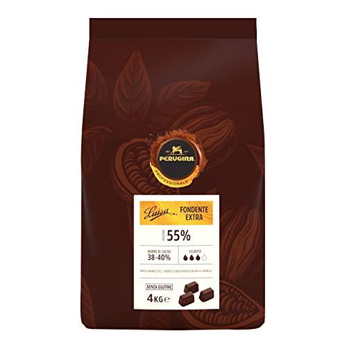 Perugina Professionale Cioccolato Fondente Extra Luisa 55% Cubetti, 4 kg