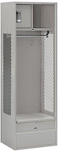 Salsbury Industries Open Access Standard Assembled Metal Locker, 6-Feet-18-Inch, Grey