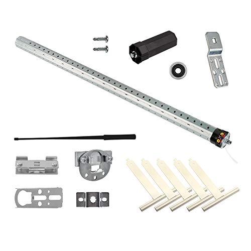 jarolift Wellenset SW60 Universal-Motor für alle Rollladenkästen bis 120 cm, Komplettset Rollladen-Welle Achtkant