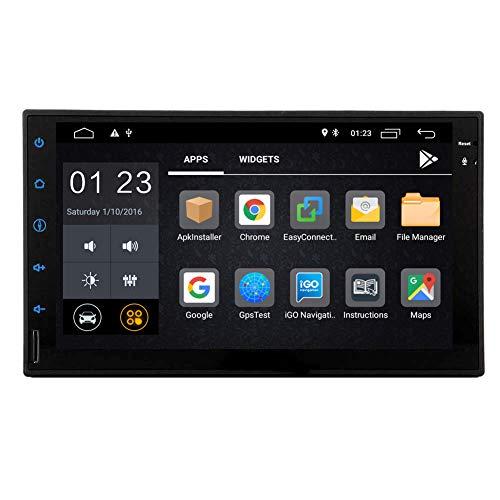 EINCAR Doppio 2 DIN Autoradio Android 9.0 Stereo Bluetooth Touch Screen da 7 Pollici Autoradio Sistema di Navigazione GPS 2 DIN 1 GB RAM 16 GB Rom nel cruscotto Lettore Video Supporto Audio WiFi