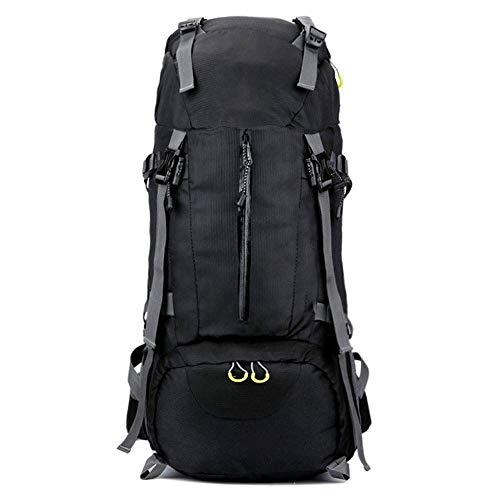 AEBDF Rucksack Lightweight Packable Travel , 60L Wasserdicht Wandern Daypack Faltbarer Rucksack for Frauen Männer, Camping Ultraleicht Outdoor Sport Rucksack (Color : Black)