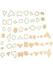 54 Piezas/Juego Plantilla Patrón Patchwork, Transparente Patrón de Acrílico Plantilla Stencil Set Para Artesanía de Cuero, Herramienta de Costura, Patchwork de Bricolaje