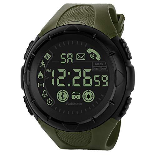 Reloj Inteligente Digital para Hombre Reloj Deportivo inalámbrico Recordatorio de Llamada inalámbrico Resistente al Agua para Android iOS