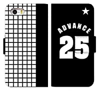 [Google Pixel5] スマホケース 手帳型 グーグル ピクセル5 ケース 手帳 おしゃれ pixel5 カバー 人気 かわいい 野球 背番号 ベースボール デザイン 0104-A. ADVANCE25 スマートフォン 手帳型ケース スマホゴ