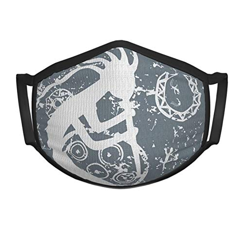 best& The Kokopelli Themed Garbage Tribe Is A Of Fertility And Native American Culture And Art Teenager Black Border Masks Adjustable Anti Dust Face Mask,Washable Reusable Mouth Mask