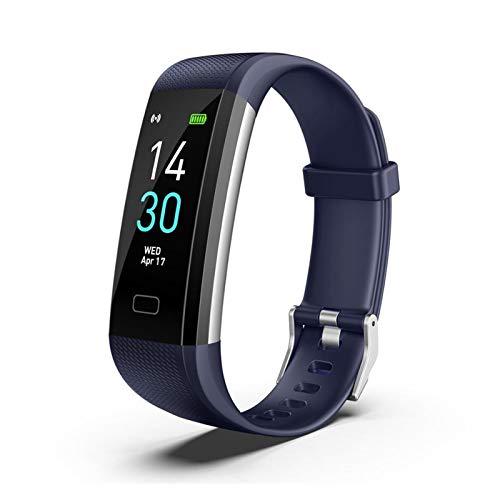 LXF JIAJU S5 SmartWatch Monitor De Presión Arterial Banda SmartWatches Smart Watch Fitness Traker Bluetooth Impermeable Android iOS (Color : 3)