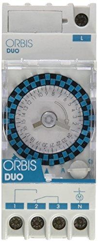 Orbis Duo QRD 120 V Interruptor horario analógico de distribución, OB292042