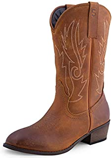 SheSole Women's Western Cowgirl Cowboy Boots Leather...