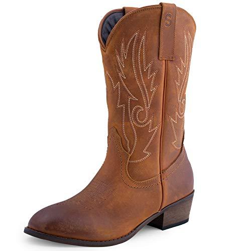SheSole - Botas de Cowboy Mujer, Marrón (Bronceado), 6 M US