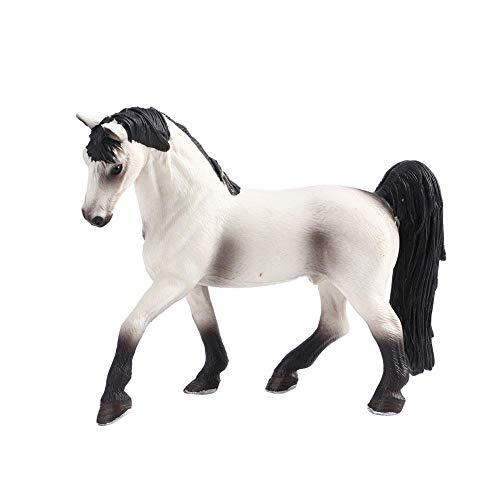 Modelo de caballo blanco sólido, modelo de caballo de plástico Simulación de juguete Animal salvaje Simulación