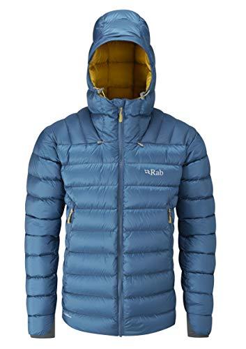RAB M Electron Jacket Blau, Herren Daunen Isolationsjacke, Größe XXL - Farbe Ink - Mimosa