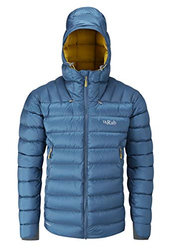 Giacca invernale di Rab Electron Jacket Red  Ink/Mimosa XL