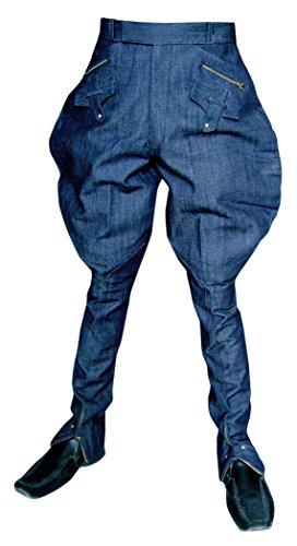 INMONARCH Herren und Damen blau Jeans Stoff Baggy Hose BB05, Blau, BB05CM