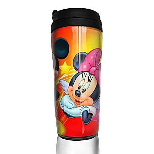 Taza de café Mickey Minnie con tapa para 350 ml (parte inferior de la taza gruesa) para deportes