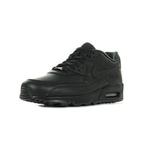 Nike Mens Air MAX 90 Leather Running Shoes Black/Black 302519-001 Size 12