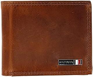 محفظة تومي هيلفيغر الجلدية رفيعة ثنائية الطي بحماية من الترددات للرجال ، لون تان 31TL240007