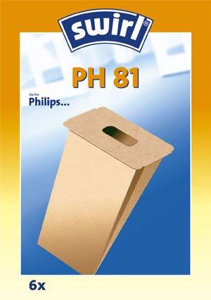 Swirl PH 81 original - Sparangebot: 6 Premium Papier Staubsaugerbeutel