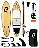 TUSY Inflatable Paddle Board Inflatable SUP 10'6'×33'×6' Ultra-Light Inflatable Paddle Boards, Non-Slip Deck Pad, with Backpack, Leash, Paddle and Hand Pump