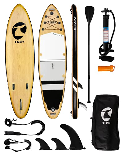 TUSY Inflatable Paddle Board Inflatable SUP 10'6'×33'×6' Ultra-Light...