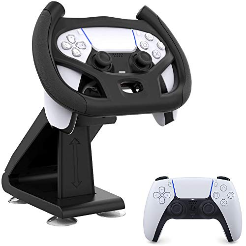 PS5 Gaming Racing Wheel, Meagadream Steering Wheel with4 Table Suction Cup for Sony Playstation 5 Dualsense Controller