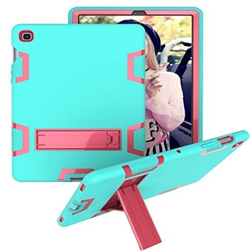 HH-Tablet Funda para Samsung Galaxy Tab S5e T720 a prueba de golpes PC + funda protectora de silicona, con soporte hangma (color verde rosa)