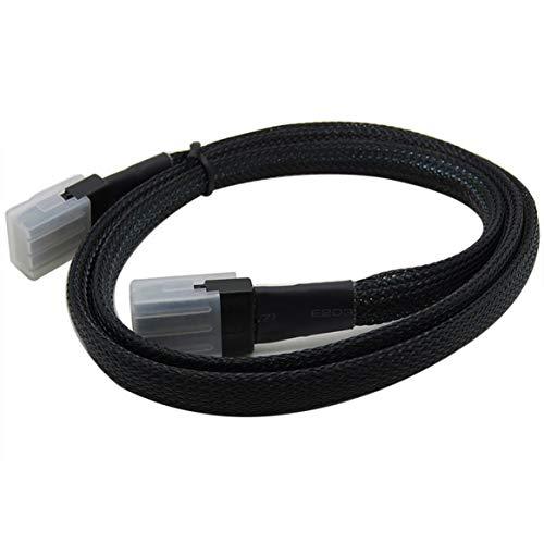 KKAAMYND Mini SAS Kabel TV Kabel Mini SAS36P Verbindungskabel Server Festplatte Datenkabel Fernseherzubehör schwarz 1m Dieses Anschlusskabel verwendet sauerstofffreies Kupfer c