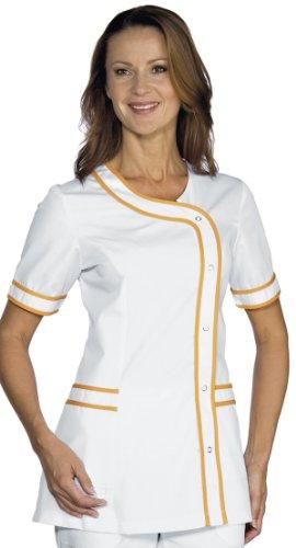 Robinson Damen Kasack BRASILIA weiß+orange Größe M