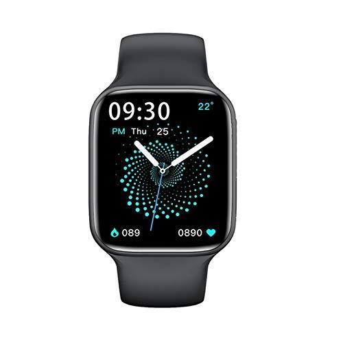 LHL 2021 Smart Watch Hombre 44Mm Bluetooth Call Bluetooth Calculator Monitor De Ritmo Cardíaco Nueva Cara De Bricolaje HW22 Smartwatch para Androis iOS,C