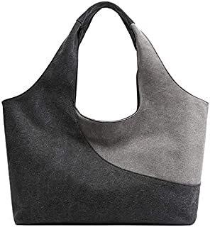 TOOGOO Fashion Women'S Handbag Cute Girl Tote Bag Leisure Bag Lady Canvas Bag Modern Handbag Gray
