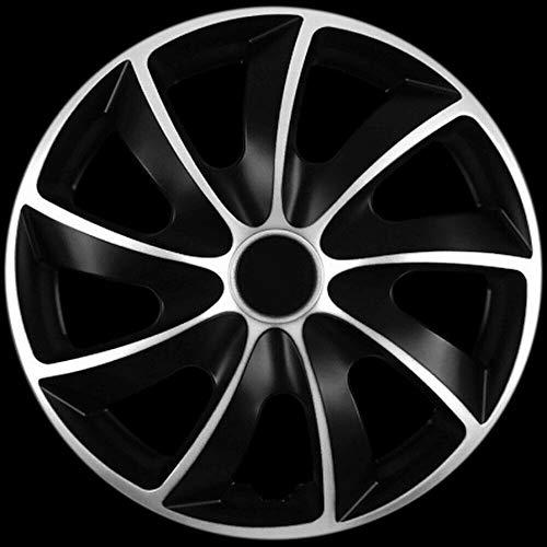 Premium Radkappen Silber-SCHWARZ Line-zweischichtig lackiert, 4 Stück, Q 13 14 15 16, Neu (15 Zoll)
