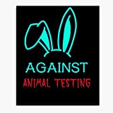 Against Animal Testing Supportive Solidarity - Canvas Printed Trendy Artwork for Wall Decor I Customize