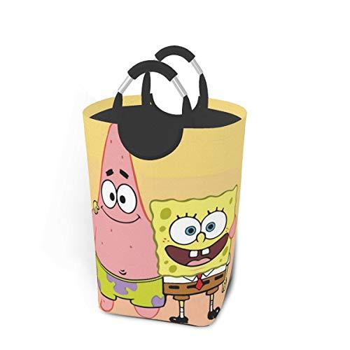 KSHGZH Laundry Basket Collapsible Laundry Hamper - Spongebob with Patrick Star Clothes Bag Storage Basket, Folding Washing Bin 50l
