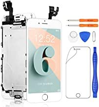 Yodoit for iPhone 6 Screen Replacement Touch LCD Display Digitizer Glass Full Assembly Camera Home Button Proximity Sensor Earpiece Speaker + Tool 4.7 inches (White)