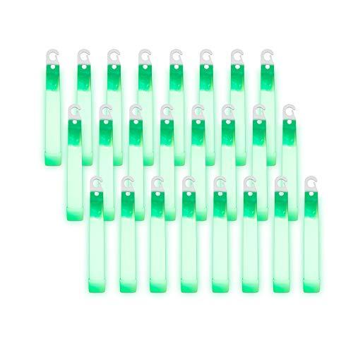 Windy City Novelties Supreme Glow - Green 10HR+ Glow Emergency Safety Light Sticks (24 Pack)